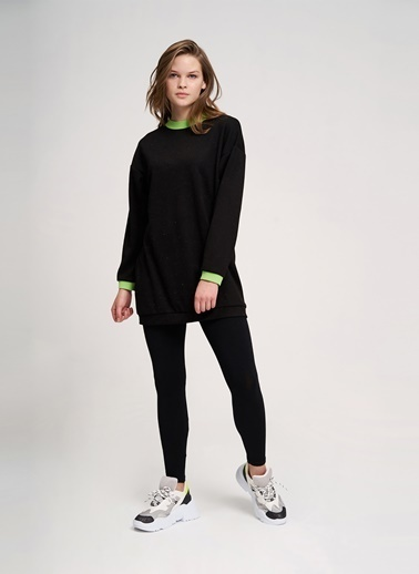 Mizalle Youth Sweatshirt Siyah
